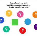 Eine Kinder-App mit Farben, Formen und Freundschaft: Die vier kleinen Ecken