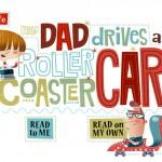 Eine lustige Kinderbuch-App zum Englisch lernen: My Dad drives a roller coaster car