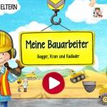 Meine Bauarbeiter: interaktives Wimmelbilderbuch mit Bagger, Kran und LKW