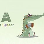 Kunstvolle Gratis App zum Buchstaben lernen: Icky Animal Alphabet