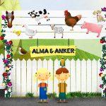 Alma & Anker: eine süße Bauernhof Spiele-App für Vorschulkinder