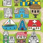 Damki Town: die witzige Malbuch App bringt Farbe in die Stadt