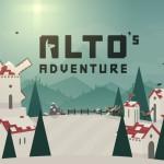 Snowboard fahren und Lamas fangen mit Alto's Adventure