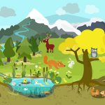BioMio: Niedliche Wimmelbuch-App über die Biologie der Tiere, Nahrungsketten und Lebensräume